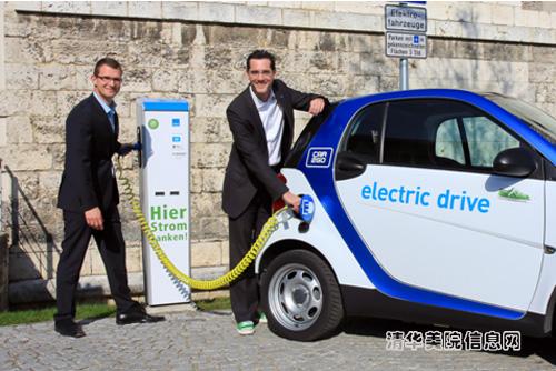 清华美院德国smart电动汽车高清图片